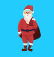 santa claus merry christmas happy new year holiday vector image
