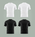 set isolated black and white t-shirt template vector image vector image
