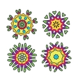 Set of floral ornaments for your design vector image vector image