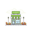 shop and store in flat design style vector image
