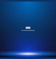 smooth dark blue with black vignette studio room vector image vector image