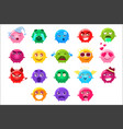 spherical characters of different colors emoji set vector image vector image