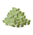 Stack of Money Flat Design vector image vector image