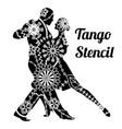 tango stencil vector image