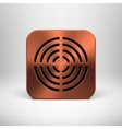 Technology App Icon with Bronze Metal Texture vector image vector image