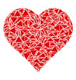 valentine heart mosaic of triangles vector image
