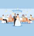 wedding banquet concept flat vector image vector image