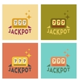 assembly flat icons poker jackpot Lucky seven vector image