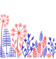 rustic decorative plants and flowers collection vector image