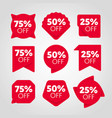 special offer sale tag discount proposition set vector image