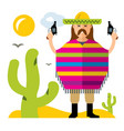 crime in mexico flat style colorful vector image