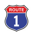 1 route sign icon road 1 highway vector image