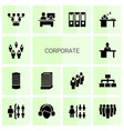 14 corporate icons vector image vector image