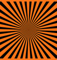 abstract orange and black radial background vector image vector image