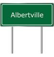 albertville alabama usa road sign green vector image vector image