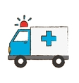 ambulance with siren icon image vector image vector image