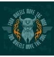 Bearded biker vintage bikers badge vector image vector image