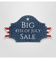 Big 4th of July Sale Tag with Ribbon vector image vector image