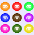 binoculars icon sign Big set of colorful diverse vector image vector image
