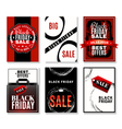 Black Friday Sale Flyers Collection vector image