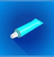 blank tube package mockup vector image