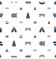 block icons pattern seamless white background vector image vector image