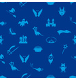 blue simple fairy tales theme seamless pattern vector image