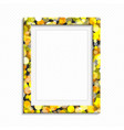 bright realistic photo frame vector image vector image
