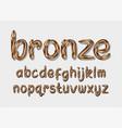 bronze alphabet vector image