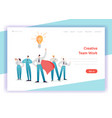 business team work concept landing page template vector image
