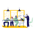 businesspeople characters boring at meeting or vector image vector image