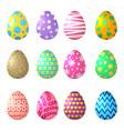 cartoon eggs celebration symbols easter vector image vector image