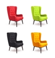 Chair Realistic Icon Set vector image
