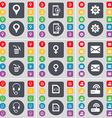 Checkpoint Smartphone Gear Trash can Venus symbol vector image vector image