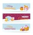 Christmas gift box banners vector image