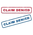 Claim Denied Rubber Stamps vector image vector image