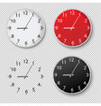 clock set isolated transparent background vector image vector image