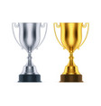 cups for first second place at sport competition vector image