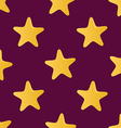 Cute seamless pattern tiling made of stars Endless vector image