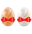 decorated eggs vector image vector image