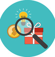 Efficient search concept Flat design Icon in vector image