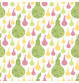elegant decorative pears seamless pattern textile vector image