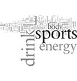 energy sports drink to warm up your body vector image vector image