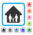 family home framed icon vector image vector image