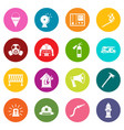 fireman tools icons many colors set vector image vector image