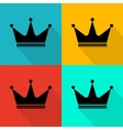 Flat crown icon vector image vector image