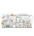 food concept flat line art vector image