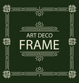 frame art deco line style square shape vector image vector image