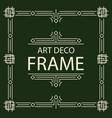 frame art deco line style square shape