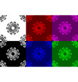 gear wheel seamless pattern vector image